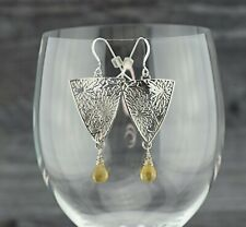 Handcrafted Sterling Silver Citrine Earrings