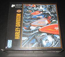 Harley Davidson Thunder Row 1000 Piece Puzzle Sealed NIB Motor Cycles