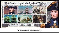 SOLOMON ISLANDS  2005 200th Anniversary of the Battle of TRAFALGER / WAR M/S MNH