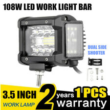 3.5 Inch 108W 36LED Work Light Bar Driving Dual Side Lamp Offroad Truck SUV 1PC