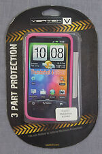 Naztech 3-Layer PINK Cell Phone Cover HTC ThunderBolt - Vertex Skin - NEW SEALED