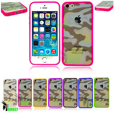 Camouflage Custodia Cover per Apple iPhone 5 5s Mimetica Militare lati Silicone