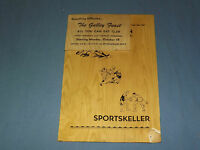 VINTAGE  THE CENTER INN GLENMONT NEW YORK SPORTSKELLER  MENU