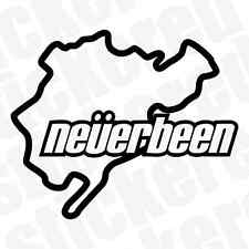 NEVERBEEN NURBERGRING FUNNY NOVELTY CAR / VAN / WINDOW STICKER / DECAL JDM VW