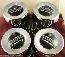American Racing 8 Lug Steel Chrome CustomCenter Caps - F/R (SET OF 4)