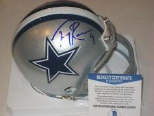TONY ROMO Signed Dallas COWBOYS Mini-helmet w/ Beckett COA