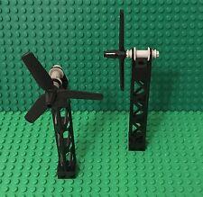Lego X2 New MOC Mini Turbine Engine / Wind Machine / Custom City Farm Windmill