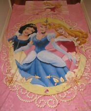 Pink DISNEY PRINCESS  DOONA Quilt  COVER SINGLE BED incl  PILLOW CASE EUC
