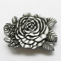 Western Rose Flower Metal Belt Buckle