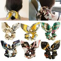 Women Accessories Pearl Bow Hair Scrunchie Rope Band Ring Tie Ponytail Holder Ya