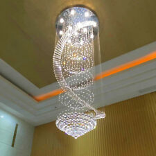 Modern spiral LED crystal pendant lamp ceiling lamp Lobby stair ceiling lamp YB0