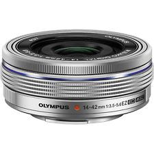 Olympus M.Zuiko Digital 14-42mm EZ ED MSC Pancake-Zoom silber gebraucht wie neu