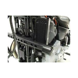 446325 - Protection de radiateur (huile) R&G RACING noir Harley Davidson XR1200