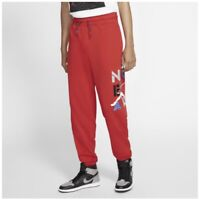 Nike Air Jordan Mens Fleece Sweat Pants Medium Retro 4 Color Way Red Legacy AJ4