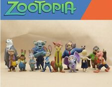 12 pcs Disney Zootopia Figure Zootropolis Judy Hopps Mr Big Mini Toy Cake Topper