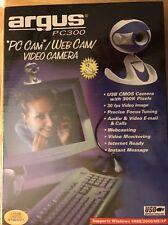 Argus PC 300 Webcam PC Cam Video Camera New Sealed 2002 Windows 98SE/2000/ME/XP