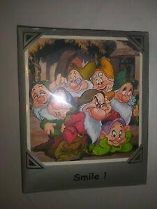 "Disney Photo Album Seven Dwarfs SMILE!  Acid+PVC Free  Holds 100 4"" x 6"" NIP"