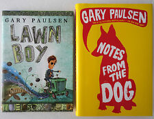 Gary Paulsen Lot 2 HC/DJ: Lawn Boy 2007 and Notes From the Dog 2009 VGC