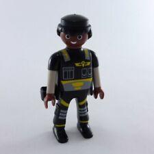 3406 Playmobil Homme Policier Noir Africain