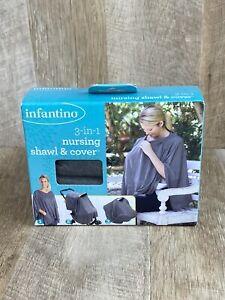 Infantino 3-in-1 Nursing Shawl and Cover Dark Gray