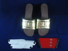 ONESOLE Elegance Softstep Cafe Womens Shoe Sandals Size 11 W/ 3 Tops