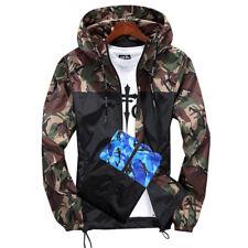 013a70f1 Men Waterproof Camo Windbreaker Hoodie Hooded Sweatshirt Zip Jacket Outwear  New