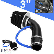 "3"" Universal 76mm Car Cold Air Intake Filter Induction Pipe Hose System Carbon"