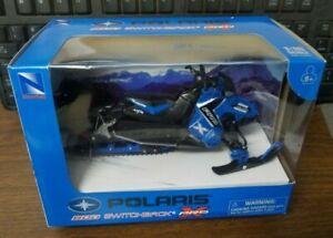 New Ray Blue Ski-doo MXZ  Snowmobile 1:18 Die Cast Replicas w/ plastic 57783B