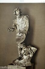 HELIOGRAVURE Auguste RODIN Claude LORRAIN BRONZE  18,8x27,3cm L'ART