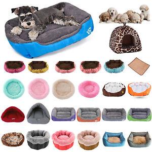 Winter Warm Fleece Pet Bed Dog Soft Lunoger Cushion Cat Kennel Puppy Mat Lot CA