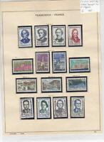France 1957-58 Used Stamps On 2 Pages Ref: R6492