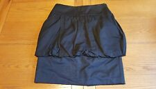 Reiss Womens Black Bubble Balloon Skirt With Pockets - UK Size 8.