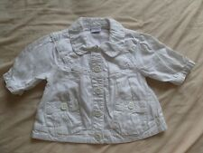 NEXT Girls White Long Sleeve Two Pocket Button Up Shirt Size 2-3 Years