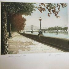 "Ashley Bolch Coloured Etching ""Bridge"" 66/250 Ltd Ed Pencil Signed"