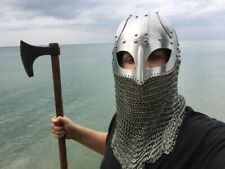 Historial Medieval Viking Helmet Battle Armor+18G Steel and Chain mail sca