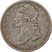1836 Bust Half Dollar Choice F 0-112 R.1 Great Eye Appeal Nice Strike