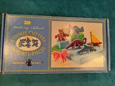 Nordic Ware 3D Stand Up Cookie Cutters Party Series Dolphin Plane Boat Dinosaur