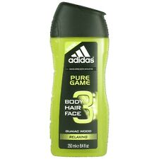 ADIDAS 3-in-1 SHOWER GEL for MEN Pure Game Guaiac Wood Extract 250ml