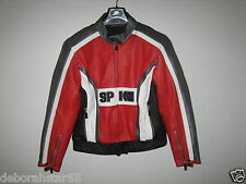 Ladies Leather Motorcycle Motorbike Scooter Retro style Jacket Spyke Size 36