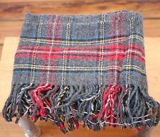 Genuine Pendleton 100% Wool Tartan Plaid Fringe Blanket Factory Remnant Fabric