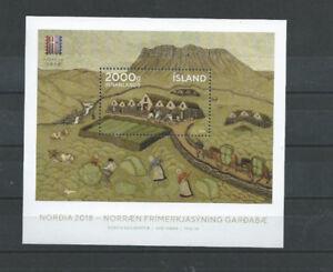 Briefmarken, 2018, NORDIA 2018, Block 67 **