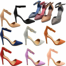 Patternless Court Synthetic Leather Heels for Women