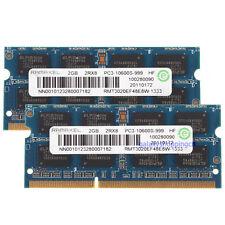 New 2GB X2 Ramaxel 4GB PC3-10600S PC3-10600 DDR3-1333MHz 2RX8 SO-DIMM RAM Memory