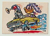 1970S SCANLENS ODDEST ODD RODS STICKER #119 PLYMOUTH ROAD RUNNER DONRUSS EXC!!!