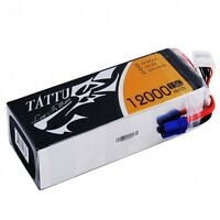 Tattu 12000mAh 6S1P 15C Lipo Battery Pack EC5 DJI S800 S900 S1000 Walkera QRX800