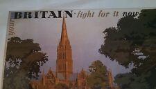 "British WW2 Propaganda Poster Your Britain Fight For It, Frank Newbould 16 X 11"""