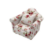 Miniature Armchair Single Sofa Couch for 1:12 Scale Dolls House Furniture
