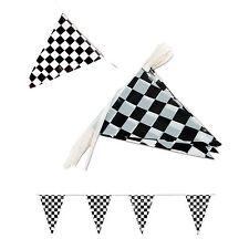 100' Pennant Flag Banners Black White Checkered Nascar Race Car Party Decor ft