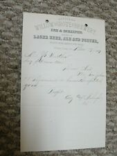 Willow Grove Brewing Co. letterhead pre pro Pittsburgh area beer ale porter