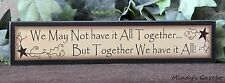 PRIMITIVE COUNTRY WOOD FAMILY SIGN HANDMADE INSPIRATIONAL HOME WALL DECOR 0221